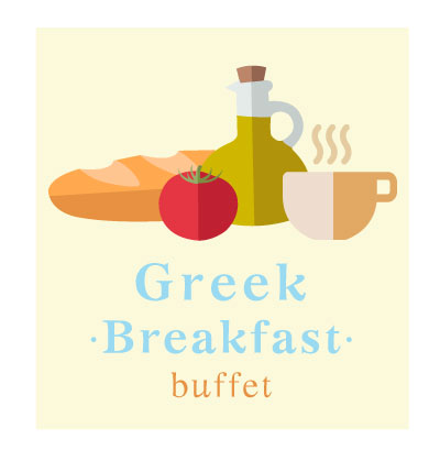 Greek Breakfast Buffet in Mykonos